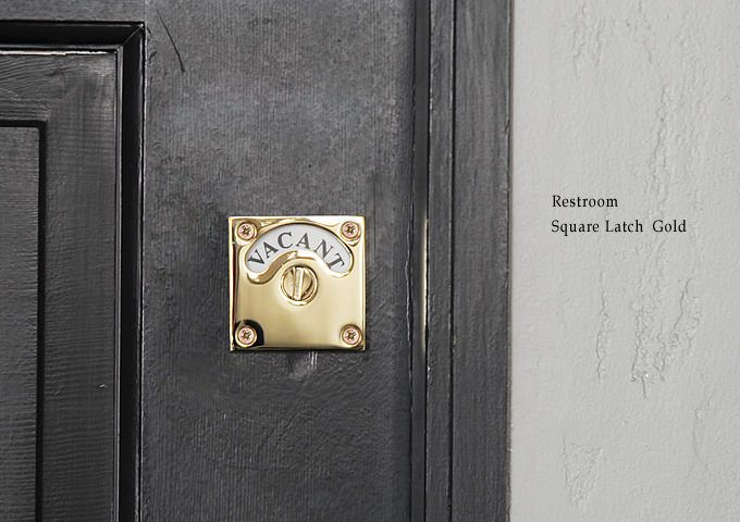 レトロな表示錠でレストルームをワンランクアップ レストルーム 鍵