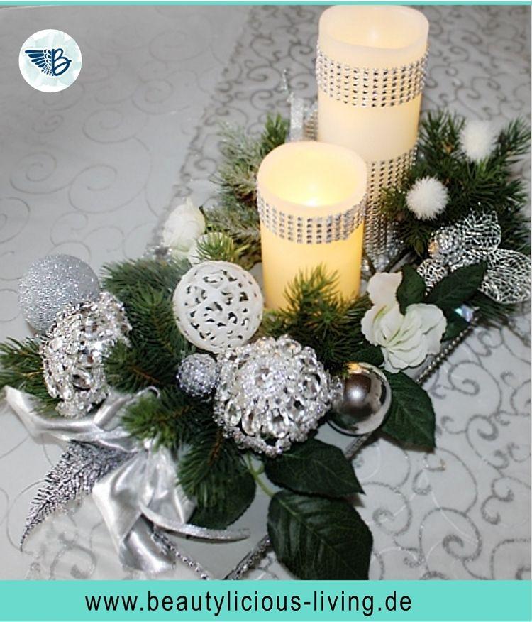 Weihnachtsdeko In Silber Und Weiß.Upcycling Weihnachtsdeko Aus Brautschmuck Diy Adventsbouquet