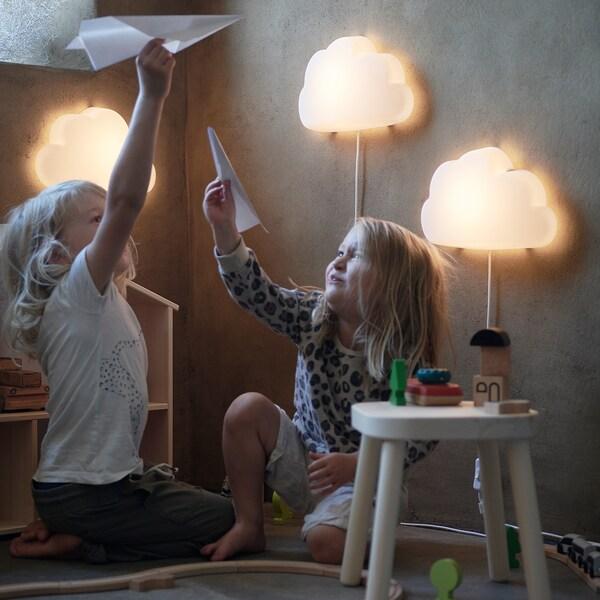 Upplyst Led Wall Lamp Cloud White Ikea In 2020 Led Wall Lamp Night Light Kids Wall Lamp