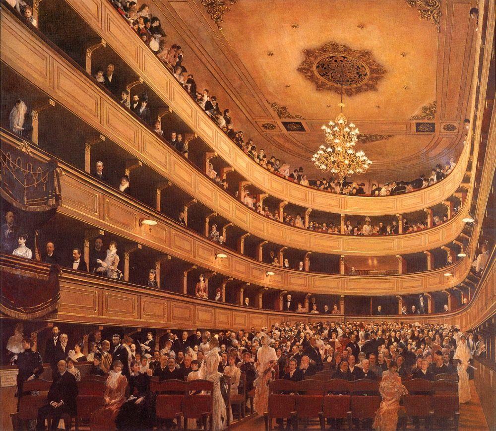 Gustave Klimt(1862-1918). Auditorium in the Old Burgtheater, Vienna, 1888. Historisches Museum der Stadt Wien (Vienna, Austria).