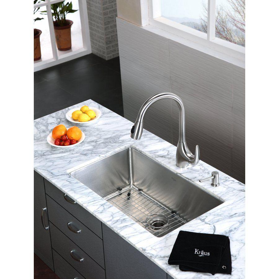 Shop Kraus Handmade 18 In X 30 In Stainless Steel Single Basin Undermount Kitchen Sink At Lowes Com Kitchen Renovation Sink Furniture Hardware