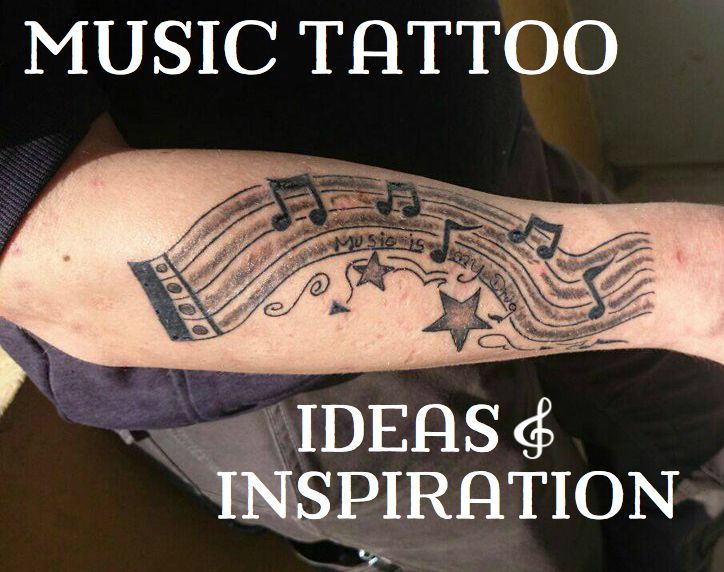 Photo of Musical tattoo ideas: sheet music, instruments & bands – musical tattoo …