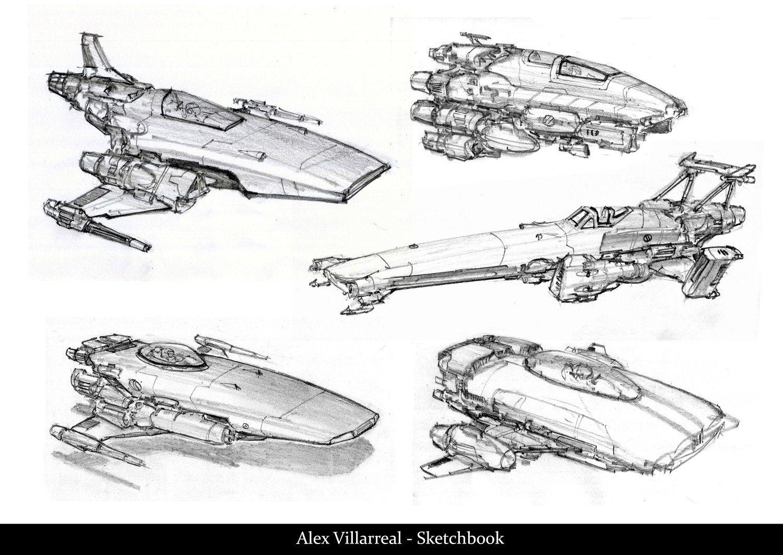 Spaceship Sketches Page 03 Alex Villarreal On Artstation At Https