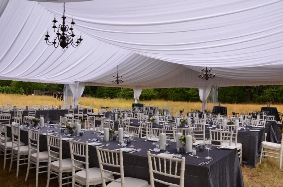 Photo Gallery Black And White Party Rentals Tent Summer Wedding Outdoor Tent Wedding