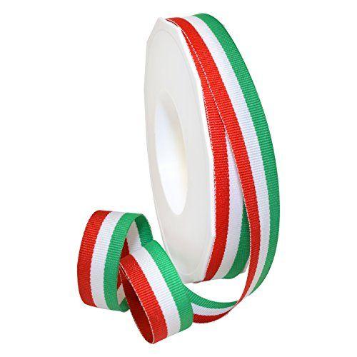 Rainbow 3//8 in Morex Ribbon Polyester Grosgrain Striped Decorative Ribbon