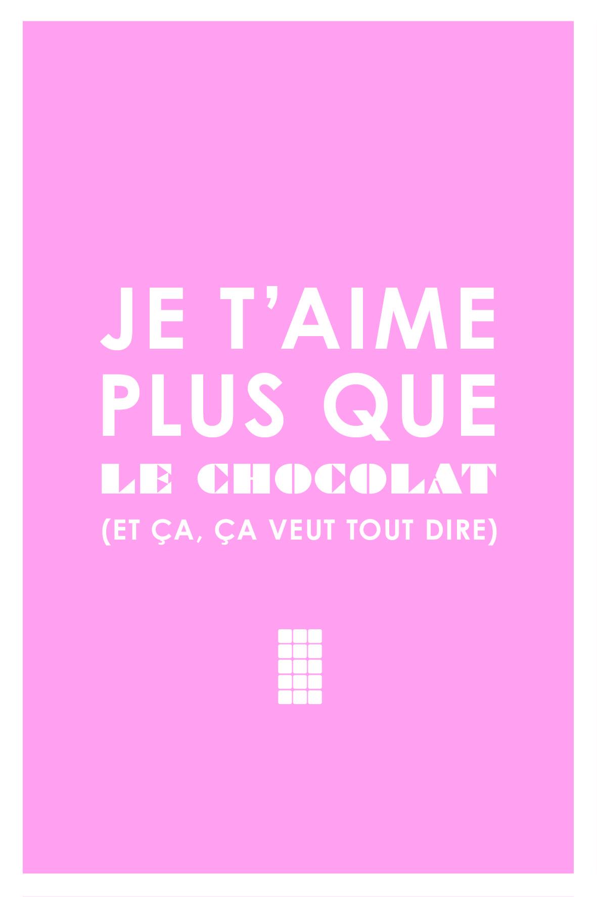 Je Taime Plus Que Le Chocolat Polabox Polaboxinlove