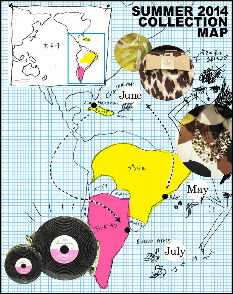kate spade new york 2014 summer collection map #kate spade #2014 summer collection #map