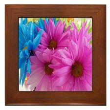 Floral Splash Framed Tile