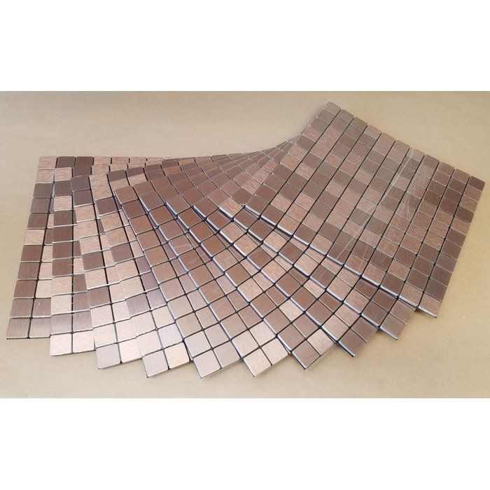 11 38 X 11 38 Metal Peel Stick Mosaic Tile In Agate Luxury Vinyl Luxury Vinyl Plank Peel Stick Backsplash