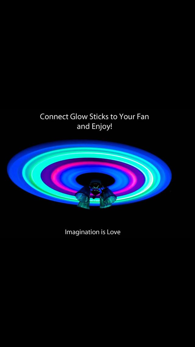 Connect Glow Sticks To Your Fan And Let Your Imagination Run Wild Glow Sticks Home Goods Decor Imagine