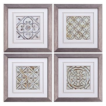 Moroccan Tiles Set Of 4 Framed Art Art By Type Art Z Gallerie Moroccan Tiles Stylish Home Decor Chic Home Decor