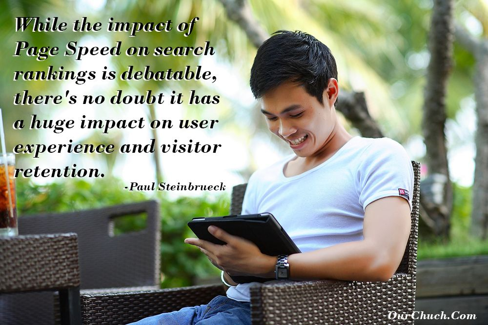While the impact of Page Speed on search rankings is debatable, there's no doubt it has a huge impact on user experience and visitor retention. -Paul Steinbrueck