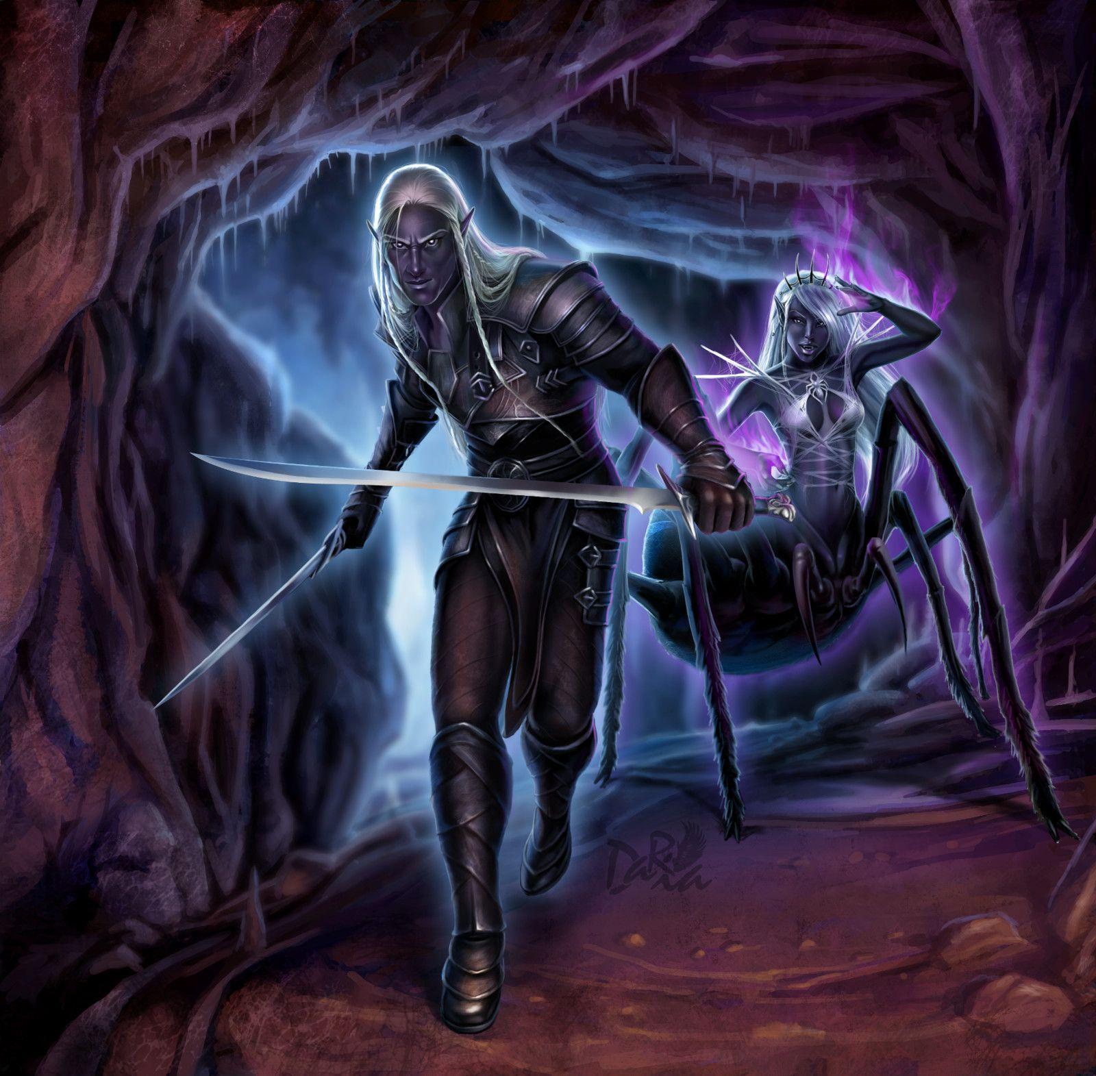 Темные эльфы на картинках