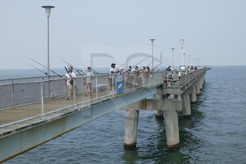 Fishing Pier Chesapeake Bay Bridge And