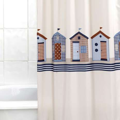 Beach Huts Shower Curtain Bathroom Shower Curtains Shower Curtain Beach Shower Curtains