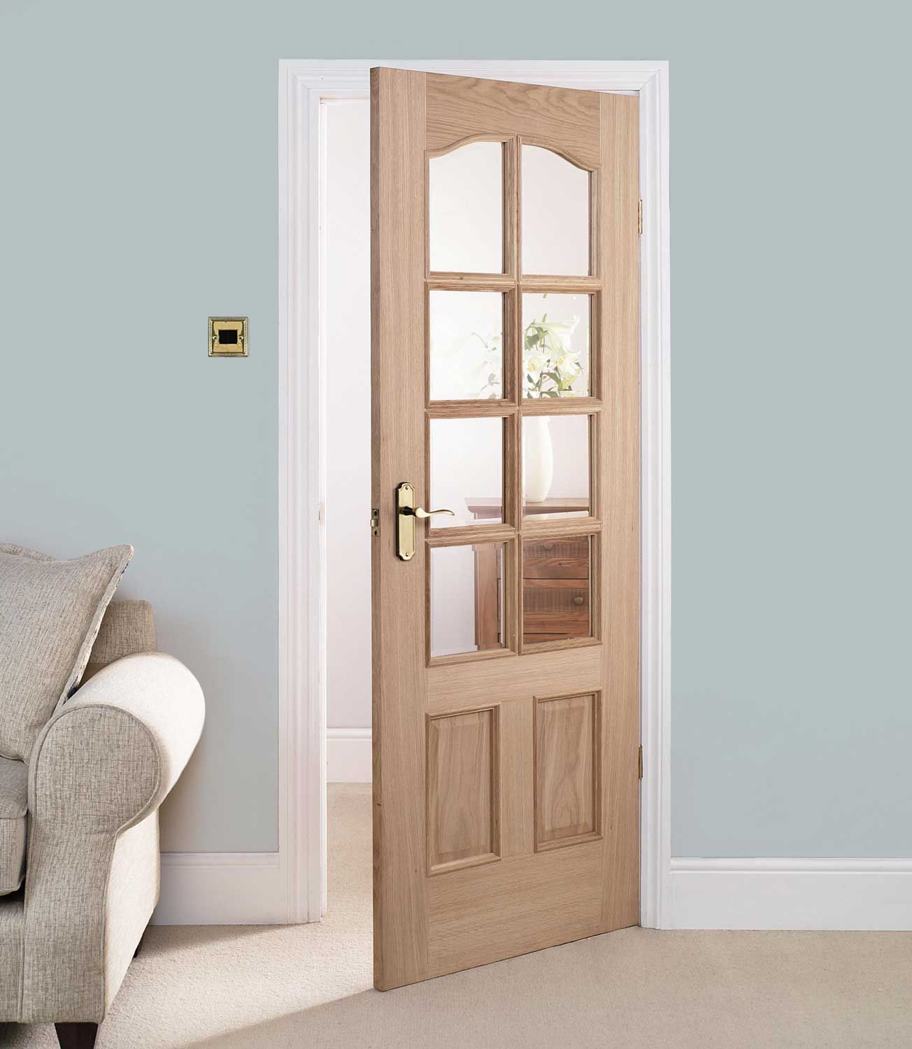 30 x 80 interior door with glass are chosen often for for Interior panel doors