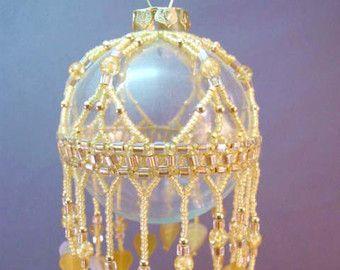 Olivine Cleopira Beaded Ornament Kit by TheOrnamentalLady on Etsy