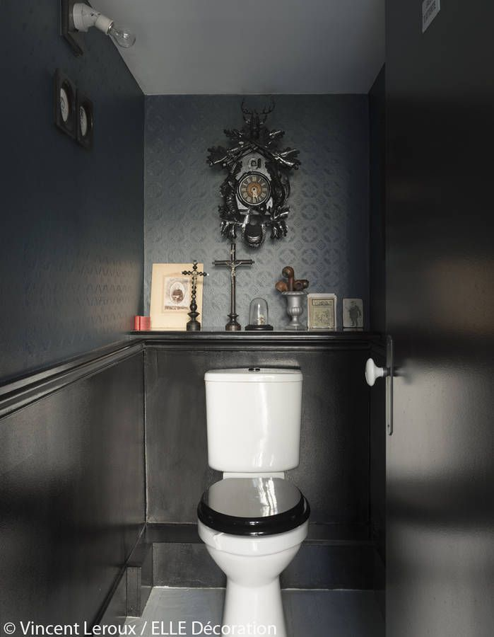 Les toilettes en noir | petit coin!!! | Pinterest | Decorating ...