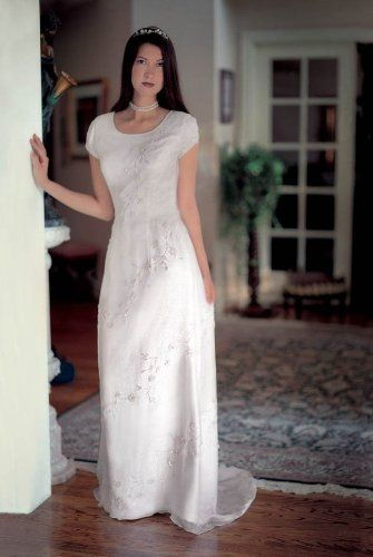 Informal Wedding Dresses For Older Brides: Silk Informal Bridal #Gown #Wedding Dress. Pretty #Wedding