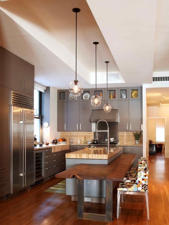 Extensao Do Balcao Contemporary Kitchen Kitchen Island Design Kitchen Island With Seating