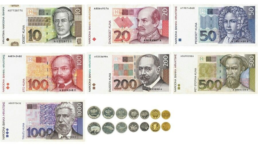 Croatian National Currency Kuna Hrvatska Croatia Kuna Croatia Europe Tours
