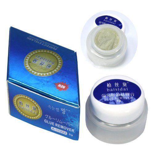 Professional Super Individual False Eyelash Lash Lashes Eyelashes Extension Glue Remover Grape Seed Oil Makeup Removal Gel Cream 5g with Original Box ...