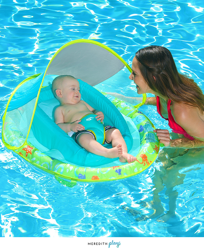 Swimways Swim Float For Infants With Sunshade Sun Protection For Babies Pool Float For Babies And Infants Baby Pool Floats Baby Swimming Baby Swim Float