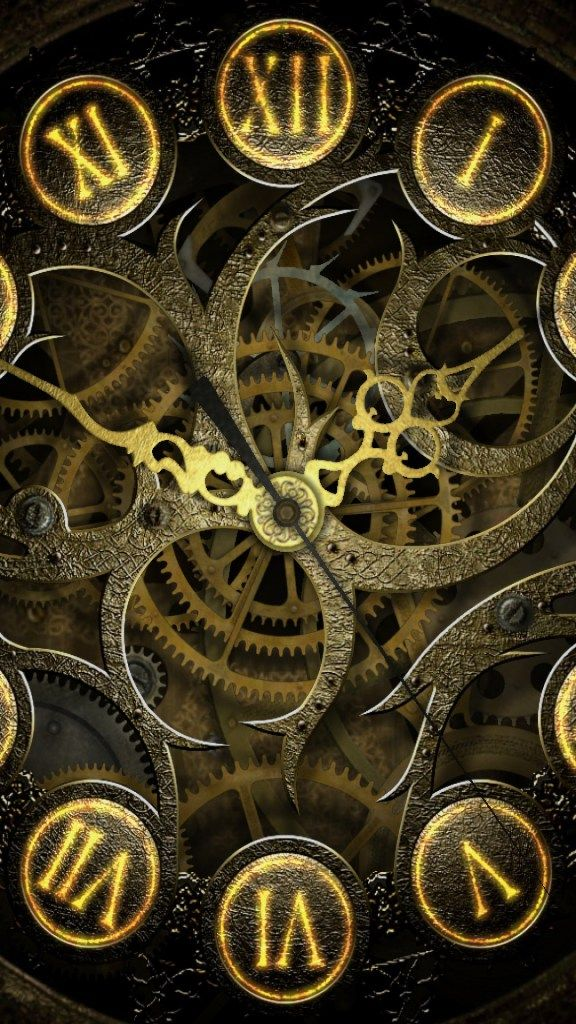 Clock Mechanism Steampunk Lockscreen IPhone 6 Plus HD Wallpaper