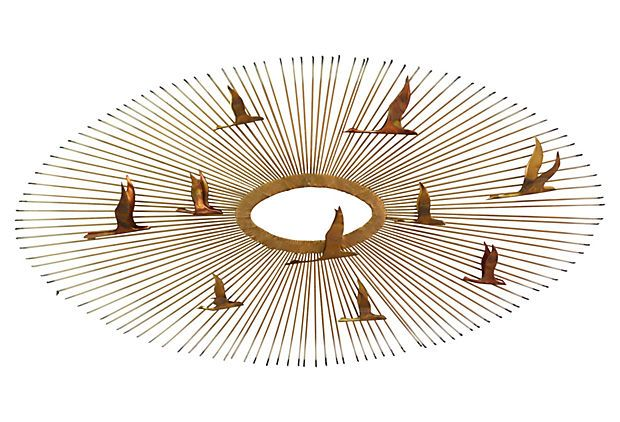 Sunburst Birds Wall Sculpture on OneKingsLane.com