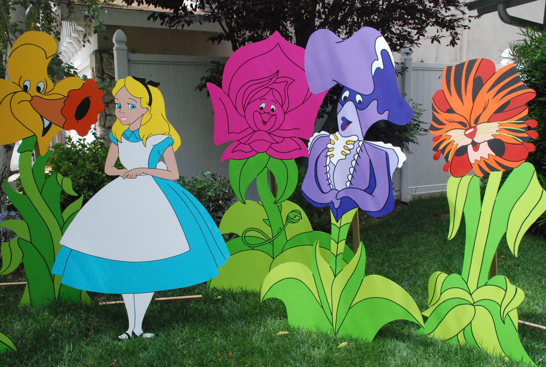 Wonderland theme props garden of talking flowers - Alice in wonderland outdoor decorations ...