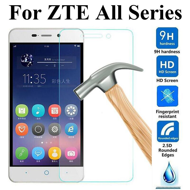 Vetro temperato protezione dello schermo per zte blade a452 a510 a460 x3 x5 x7 X9 L5 L3 S6 Plus V580 V6 V7 Telefono Lite Max D6 S7 pellicola