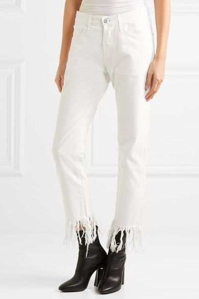 Woman Wm3 Crop Fringe Mid-rise Straight-leg Jeans White Size 31 3x1 Sale Online Shopping Clearance Best Sale Shop For Cheap Online gbae5xo7p