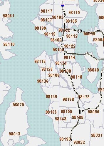 Zip Code Map Seattle Neighborhoods  The Seattle Times Census