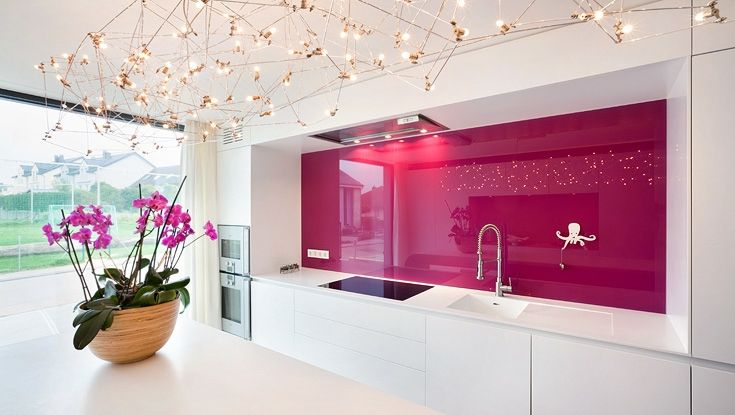 Cool Ways To Update A Kitchen With A Glass Backsplash   White ...