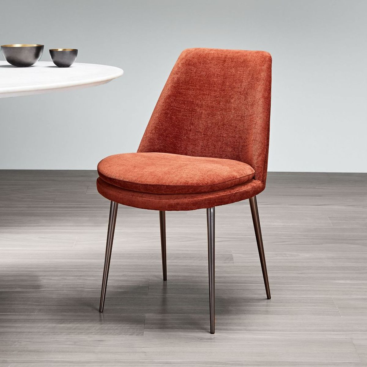 Finley lowback velvet dining chair with images cheap