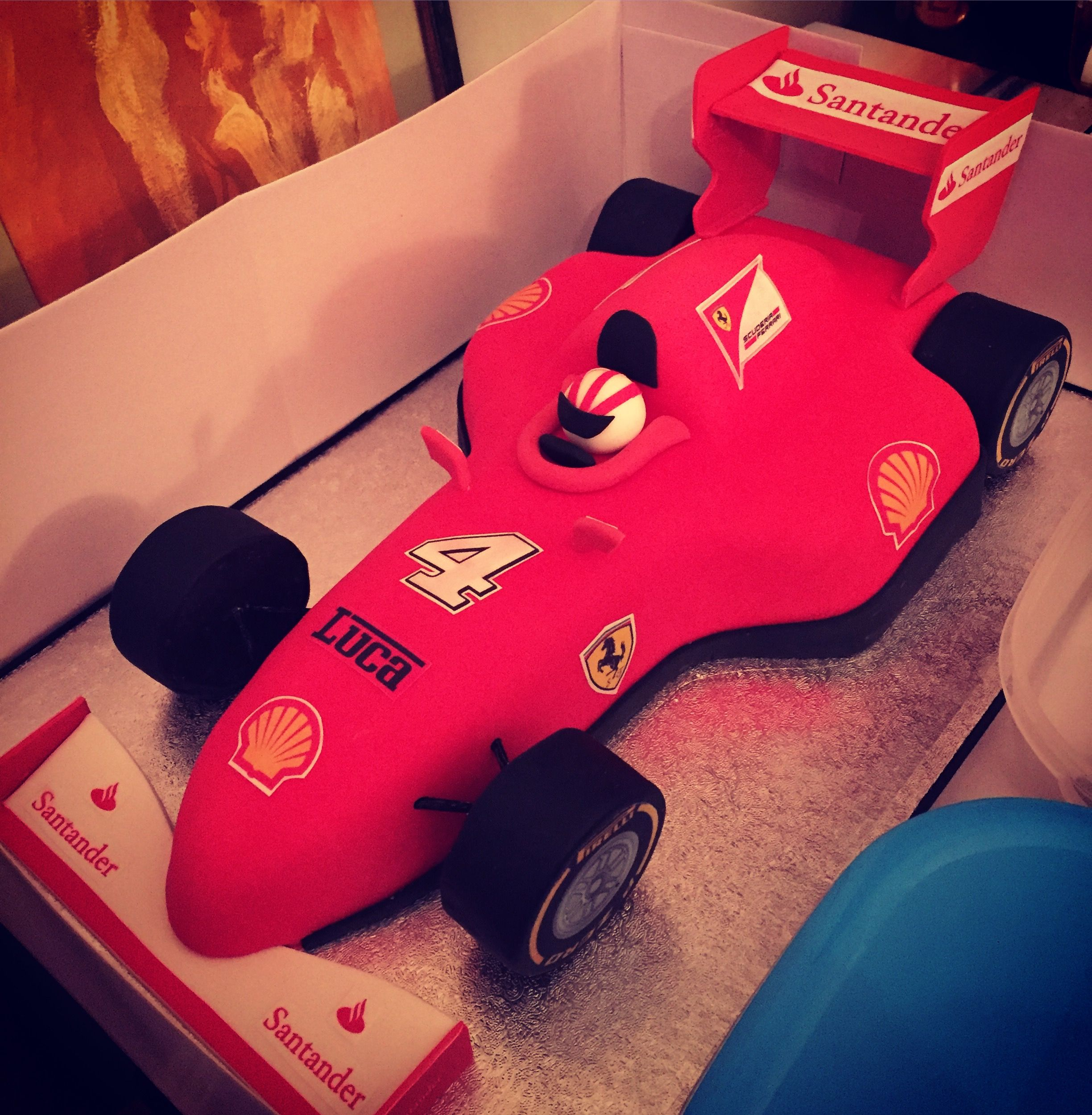 Race Car Cake Formula 1 Ferrari Birthday Cake Race Car Cakes Car Cake Dad Cake