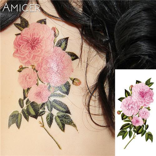 48463cc02 Assorted Flower Temporary Tattoos | Tattoosk | Tattoos, Body Art ...