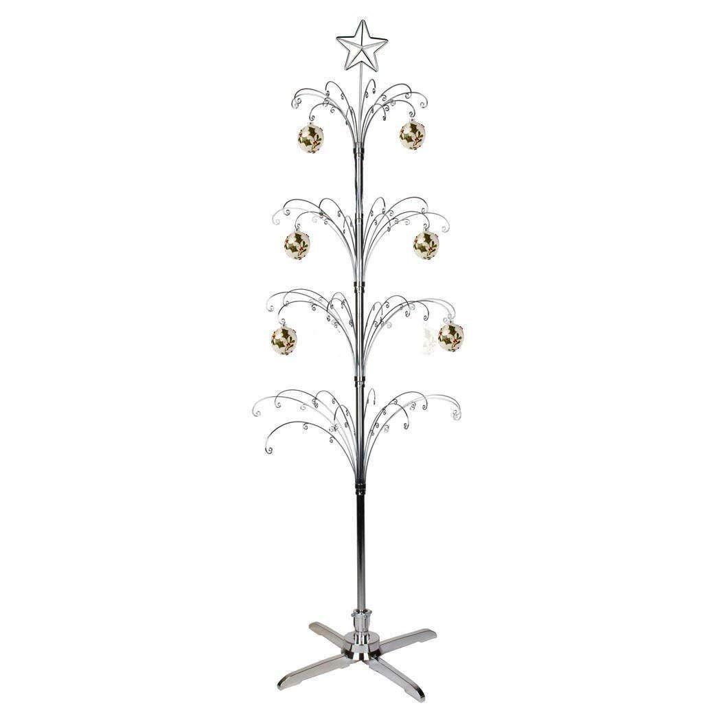 Hohiya Artificial Christmas Tree Rotating Metal Ornament
