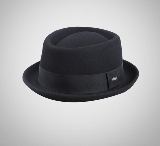 b978df8ef03 Sedancasesa New 2018 Fashion 100% Australia Wool Men's Fedora Hat with -  chicmaxonline