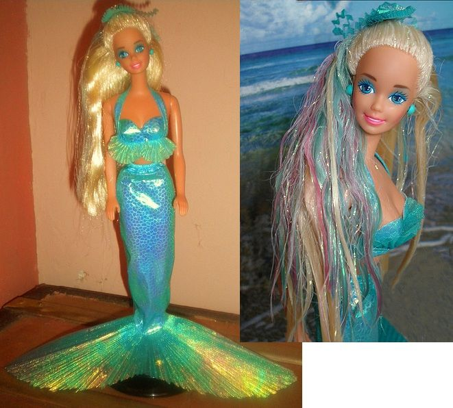 Mermaid Barbie From The Early 90 S I Had One Of These When Was Little It My Favorite Her Hair Changed Colors Got Wet