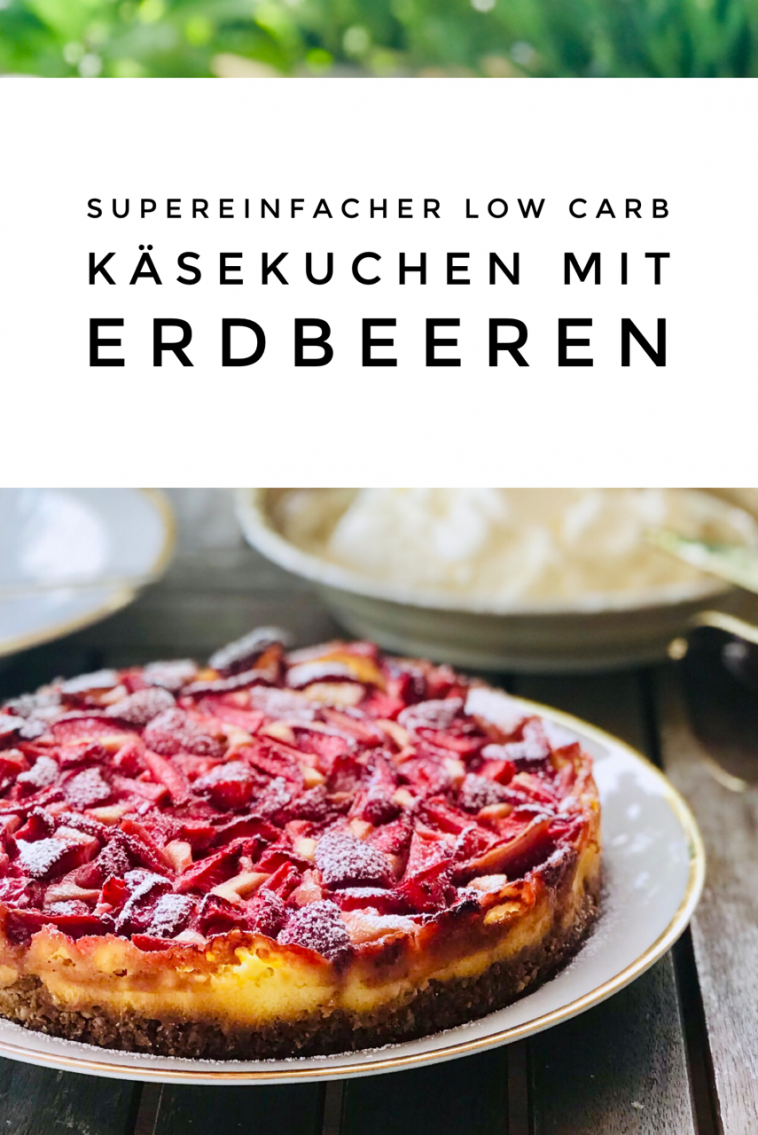 Zuckerfreier Vanille Cheesecake Mit Erdbeeren Kochen Und Backen Backen Ohne Kohlenhydrate Zuckerfrei
