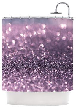 Debbra Obertanec Lavender Sparkle Purple Glitter Shower Curtain