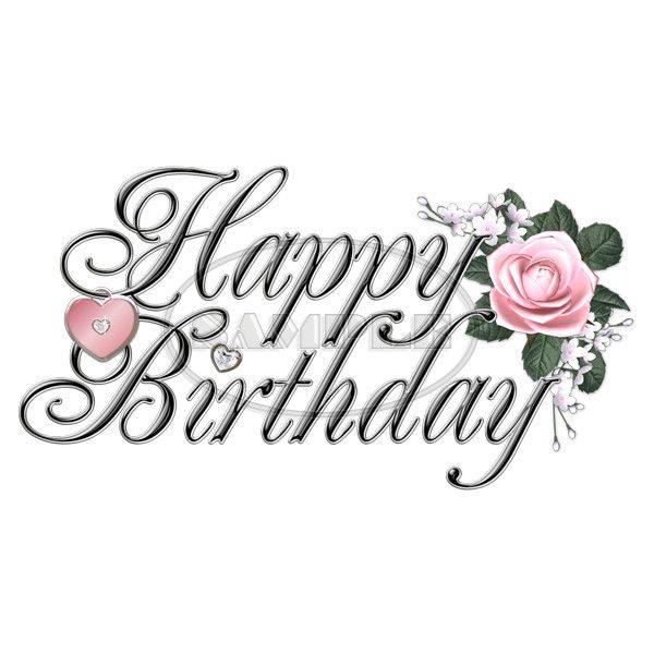 happy birthday fancy Happy Birthday   Fancy (Black, Silver, Pink) Word Art   $0.75  happy birthday fancy