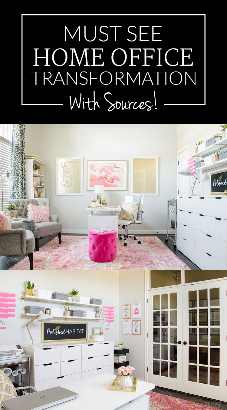 Home office an ugly mess? This before and after makeover added ...