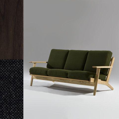 Miesen 3 Seater Sofa American Walnut Fabric Sofa Retail Furniture Furniture