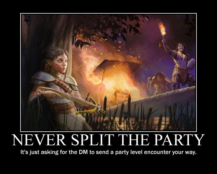 Image Result For Never Split The Party Dragon Memes Dungeons And Dragons Memes Dungeons And Dragons