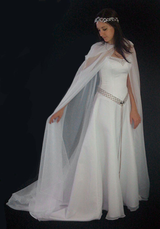 Celtic Wedding Dresses with Veils