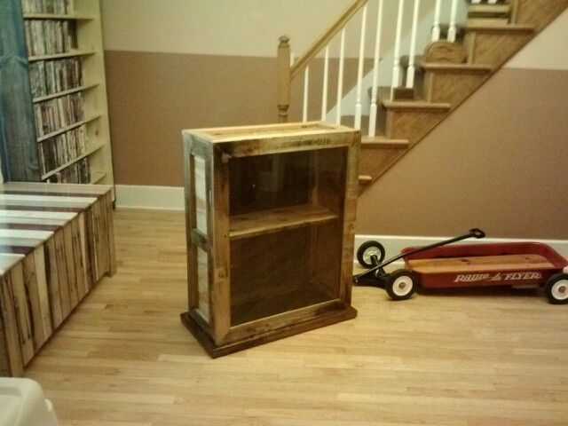 Latest Creation Curio Cabinet Made From Pallets And Scrap Wood The Woodshop