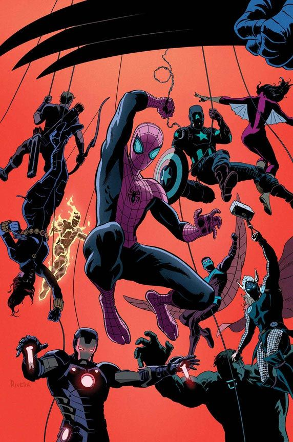 "#Superior #Spiderman #Fan #Art. (Superior Spider-Man ""Team-Up"" Vol.1 #1 Cover) By: Paolo Rivera. (THE * 5 * STÅR * ÅWARD * OF: * AW YEAH, IT'S MAJOR ÅWESOMENESS!!!™)[THANK Ü 4 PINNING!!!<·><]<©>ÅÅÅ+(OB4E)"