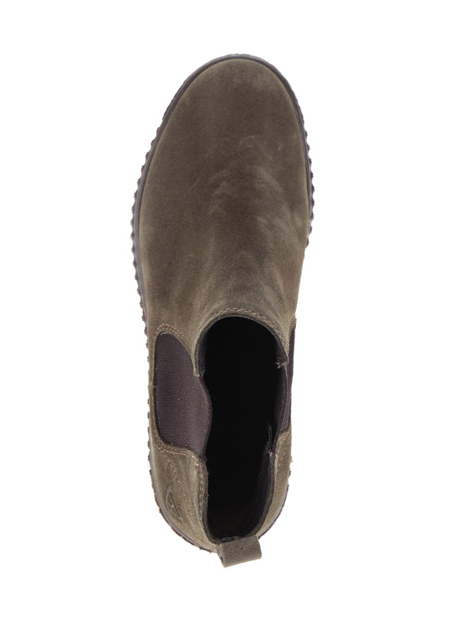 c5784b3bc1be Kaki semišové chelsea topánky na platforme Tamaris